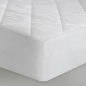 SLEEP TITE Quilted Mattress Pad with Damask Cover and Down Alternative Fill - Twin XL