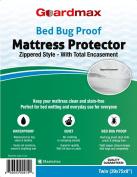Guardmax - Bedbug Proof/Waterproof Mattress Protector Cover - Zippered Style - Quiet!