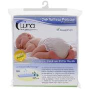 Luna Premium Hypoallergenic Waterproof Crib Mattress Protector - Phthalate Free - Made In The USA