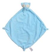 Angel Dear Cashmere Soft Polyester Blankie, Blue Owl