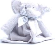 Bearington Baby Lil' Spout Snuggler, Plush Elephant Security Blanket, Lovey 38cm