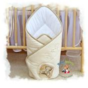 Blueberry Shop Newborn Baby Swaddle Wrap Blanket Duvet Sleeping Bag Snuggle Wrap Cream Bear