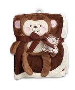 Baby Blanket w/ Monkey Design - 80cm x 100cm