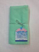 Made in USA - NuAngel Receiving Blanket - 100% Cotton Flannel- Mint Green