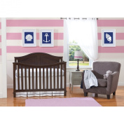 Summer Classic Bedding Set with Adjustable Crib Skirt, Nautical Navy, 4 Piece