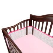 BreathableBaby Breathable Mesh Crib Liner Geo Girl