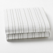 Auggie Crib Sheet - Painted Stripe/Grey