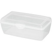 Large Flip Top Storage Box, Clear