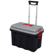 Storage Trunk w/ Wheels & Extendable Handle Rolling Garage Storage Box RV-650