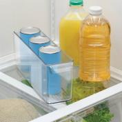 InterDesign Deep Refrigerator and Freezer Divided Storage Bin, 10cm by 15cm , Clear