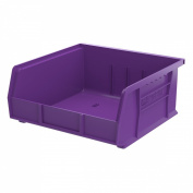 Akro-Mils 30235 28cm by 28cm by 13cm Plastic Storage Stacking Hanging Akro Bin, Purple, 6-Pack