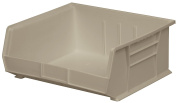 Akro-Mils 30235 Plastic Storage Stacking Hanging Akro Bin, 28cm by 28cm by 13cm , Stone, Case of 6