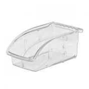 Akro-Mils 305A3 Insight Ultra-Clear Plastic Hanging and Stacking Storage Bin, 19cm Long by 10cm Wide by 8.3cm Wide , Case of 16