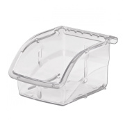 Akro-Mils 305A1 Insight Ultra-Clear Plastic Hanging and Stacking Storage Bin, 14cm Long by 10cm Wide by 8.3cm Wide, Case of 16