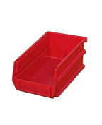 Triton Products 3-210R LocBin Stacking, Hanging, Interlocking Polypropylene Bin 14cm L by 10cm W by 7.6cm H Red 24 CT