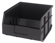 Stackable Shelf Bin, 12x11x7, Black