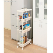 Laundry Cart / Kitchen Cart for Narrow Space MKW-4S