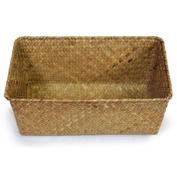 Large Slim Seagrass Rectangular Utility Basket - Natural