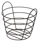 American Metalcraft BWB965 Round Wire Basket with Handles, 23cm by 17cm , Black