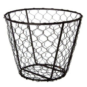 American Metalcraft WIR2 Round Chix Wire Basket, 18cm by 14cm , Black
