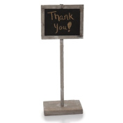 Smokey Grey Wooden Chalkboard Sign with Base - Small