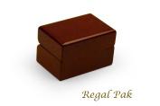 Regal pak ® one-piece jefferson collection premium rosewood double-ring box 7.6cm x 5.1cm x 4.8cm h