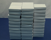 Regal Pak 50-Piece Glossy White Texture Cotton Filled Box 8.9cm x 8.9cm x 2.5cm H