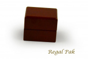Regal pak ® one-piece jefferson collection premium rosewood earring box 5.7cm x 5.1cm x 4.4cm h
