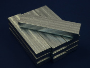 Regal Pak 10-Piece Silver Texture Cotton Filled Box 20cm x 5.1cm x 2.5cm h