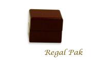Regal pak ® one-piece jefferson collection premium rosewood ring box 5.7cm x 5.1cm x 4.4cm h