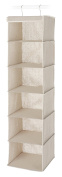 Whitmor 6082-2661 Natural Linen Soft Storage Hanging Accessory Shelves