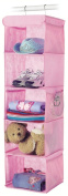 Whitmor 6636-1234-PINK Fashion Polypro Colour Organiser Collection Hanging Accessory Shelves, Pink