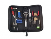Compact 15 Pieces Watch Repair Tool Kit (Black). shiping