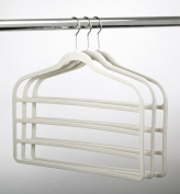 ULTRA-SLIM VELVET 4 BAR PANT HANGERS - SET OF 3- Beige