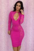 Rsan Sexy Cut Out See-through Lace Dress Clubwear