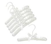 25cm White Baby Satin Padded Hangers