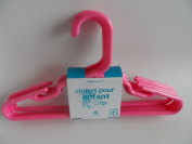 Bright Pink Baby Hangers, 6-Pack, MADE IN USA