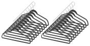Whitmor 6959-1621-20-BLK Spacemaker Collection Set of 20 Plastic Suit Hangers, Black