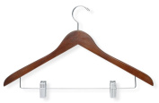 Honey-Can-Do Basic Suit Hanger with Clips, 3-Pack