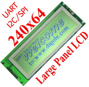 Serial:UART/I2C/SPI 240x64 Graphic LCD for Arduino/PIC/AVR