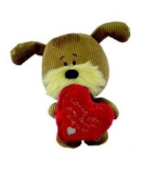 Lots of Woof - Woof Soft Toy Dog - Holding a Heart - Loving you - 23cm