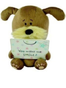 Lots of Woof - Woof Soft Toy Dog - Holding a Plaque - You make me SMILE - 20cm