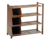 Merry Products 4 Tier Outdoor Shoe Rack and Cubby Organiser Merry Products 4 Tie