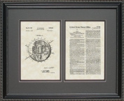 Satellite Patent Art Wall Hanging 16x20 | Space Astronaut Gift