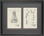 Space Capsule Patent Art Wall Hanging 16x20 | Space Astronaut Gift