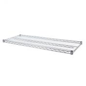 Seville Classics SHE18489 Ultra Durable Steel Wire Shelf, 46cm by 120cm , Chrome