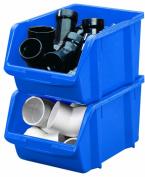 Stack-On BIN-14 Large Parts Storage Organiser Bin, Blue