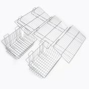 Proslat 11003 Garage Organiser Value Pack with 3 Shelves and 2 Steel Baskets, Designed for Proslat PVC Slatwall