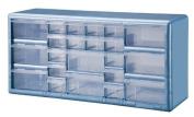 Stack-On DSLB-22 22 Bin Plastic Drawer Parts Storage Organiser Cabinet, Light Blue