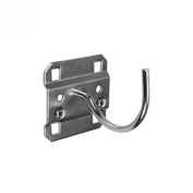 Triton Products 55230 LocHook 9.5cm Curved 7.9cm I.D. Zinc Plated Steel Pegboard Hook for LocBoard, 5-Pack